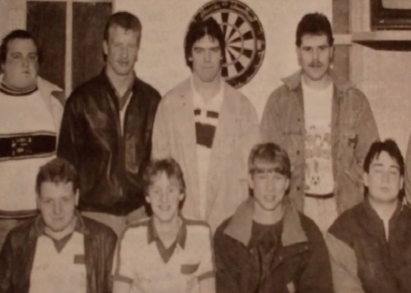 Cullybackey 'A' Darts Team - winners of The Fountain Cup. 1989.
