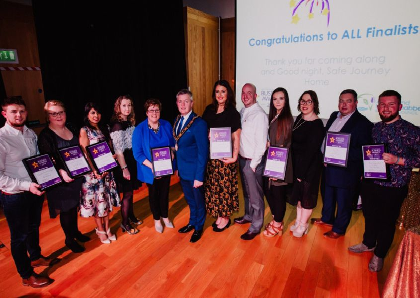 Runners-up in this year's Antrim Town Centre Business Awards which were held in the The Old Courthouse in Antrim. (Submitted Pictures).
