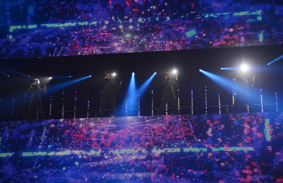 PACEMAKER BELFAST  22/05/2019:'Westlife Kian Egan, Nicky Byrne, Mark Feehily and Shane Filan,make their long-awaited return to the stage as they kick off their reunion tour in Belfast.'The Twenty Tour, which started at Belfast's SSE Arena on Wednesday, May 22. More than 560,000 tickets in the UK and Ireland - confirming the band's status as national pop music treasures.'Picture By: Arthur Allison/Pacemaker Press