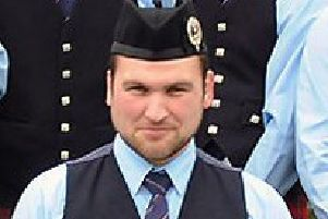 Philip Capper, 29, was a popular member of Battlehill Pipe Band. Pic: John Kelly