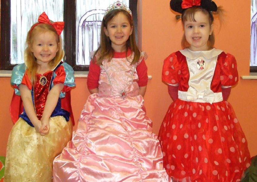Pretty princesses at Bella Bambino's  pre-school fantasy dress up day