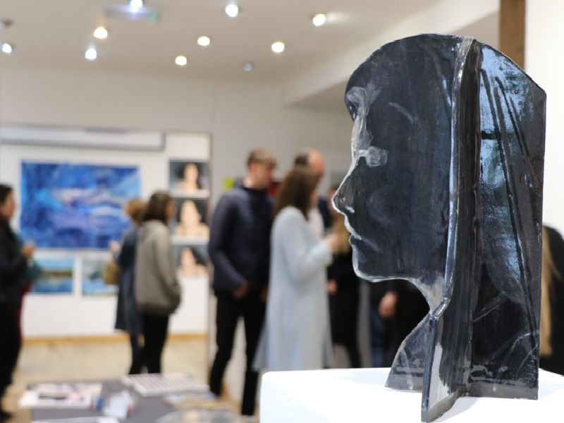 The exhibition opened Tuesday evening