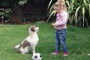Mollie with her dog Albi