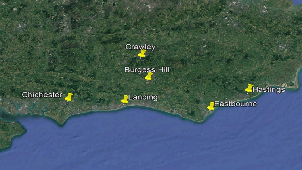 Driving test centres across Sussex Picture: Google Maps