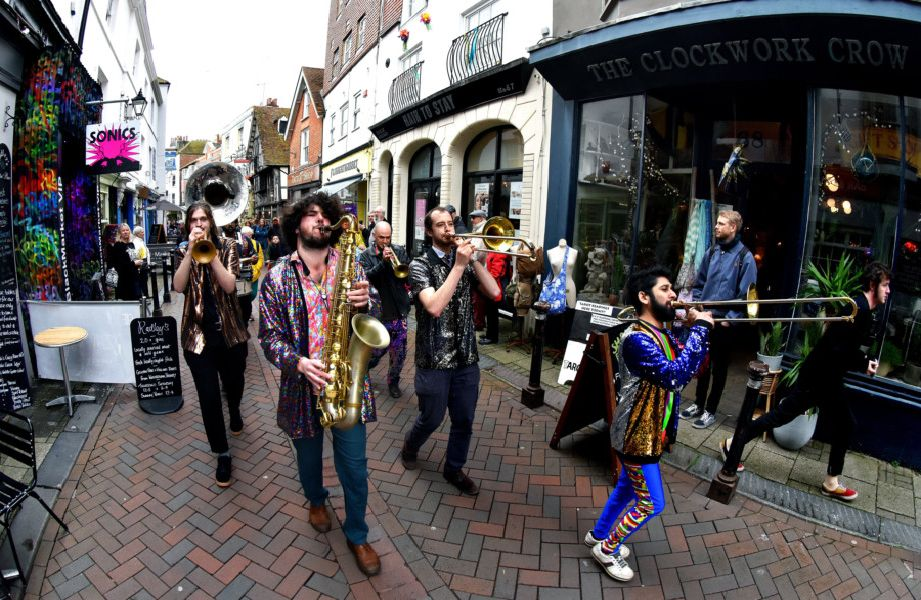 Fat Tuesday 2019 - Brass Funkys unplugged. Photo by Marks Richards