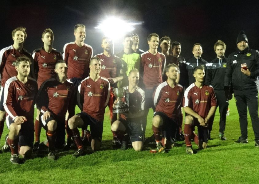 Wadhurst United celebrate after winning the Hastings & District FA Junior Cup