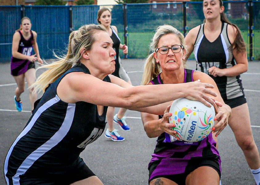 Boston Netball League action from July 4. Photo: David Dales.