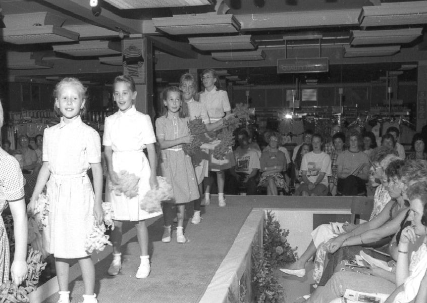 The school uniform show at Marks and Spencers in Boston in 1989.