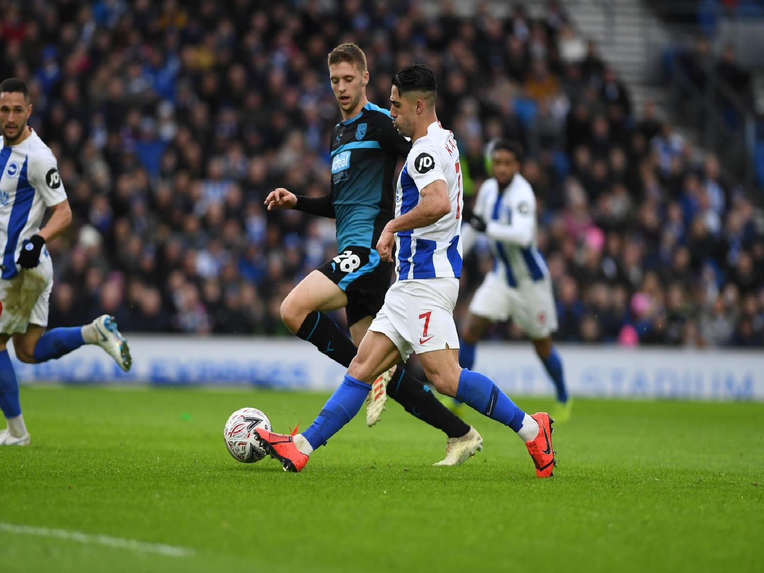Action from Brighton's FA Cup tie with West Brom. Picture by PW Sporting Photography