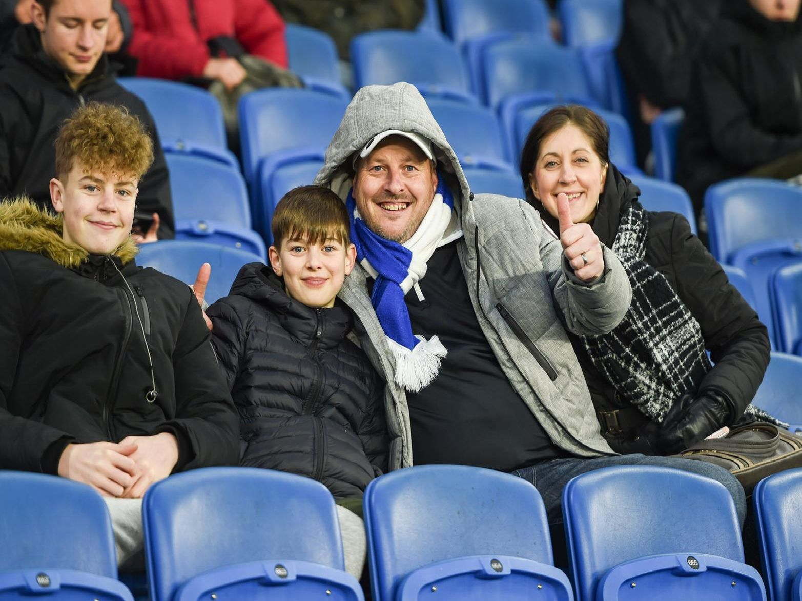 Brighton fans pictured at the Burnley match