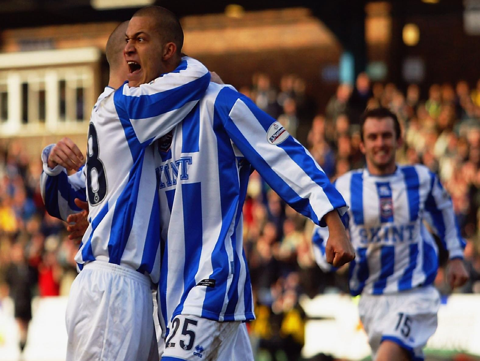 Bobby Zamora celebrates a goal during his first spell with Brighton.