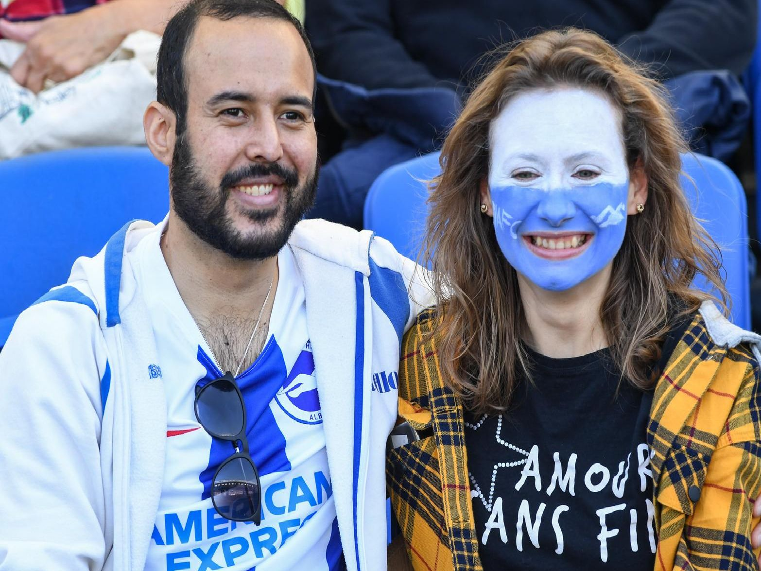 Albion fans pictured at the Premier League match with Southampton