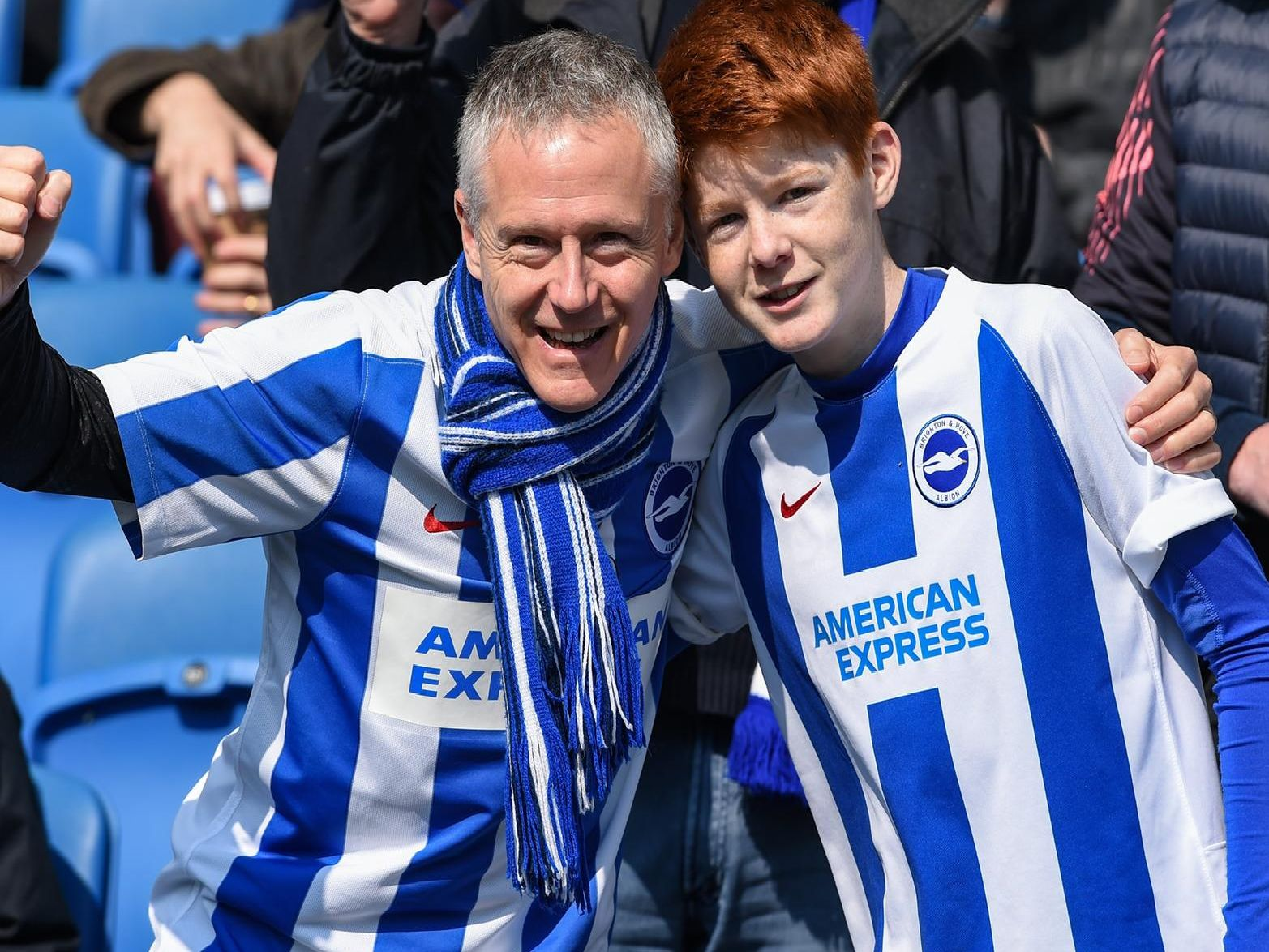 Albion fans pictured at the Amex