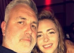 Lauryn with her dad Daniel, who has been missing in Spain since April. Picture: Sussex Police
