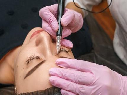 Library image of a microblading procedure taking place