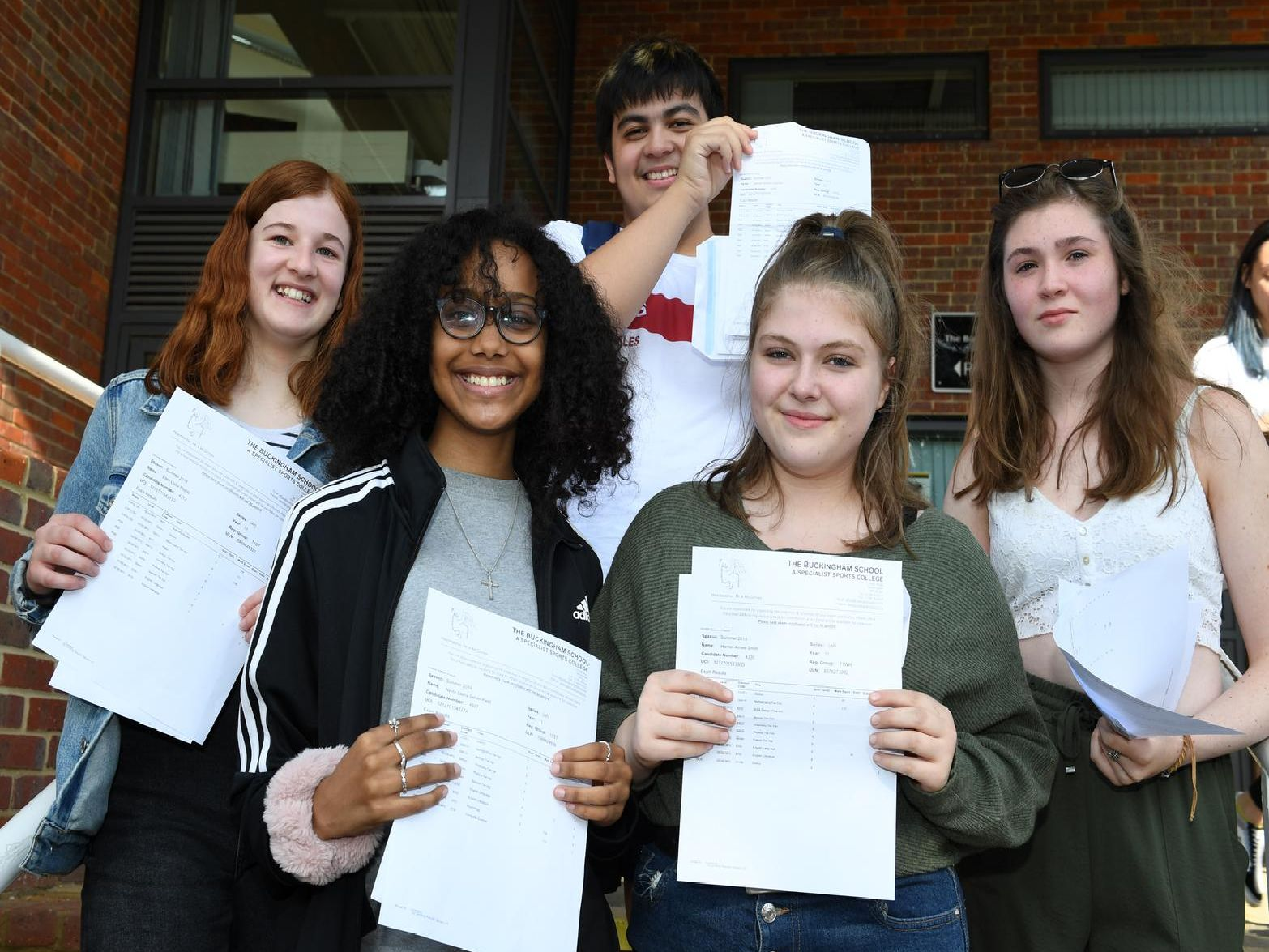 GCSE results day - the Buckingham School