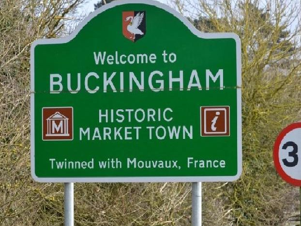 Buckingham town centre sign