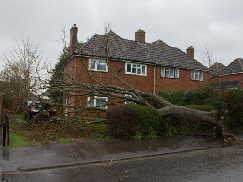 This house in Oak Green, Aylesbury had a lucky escape