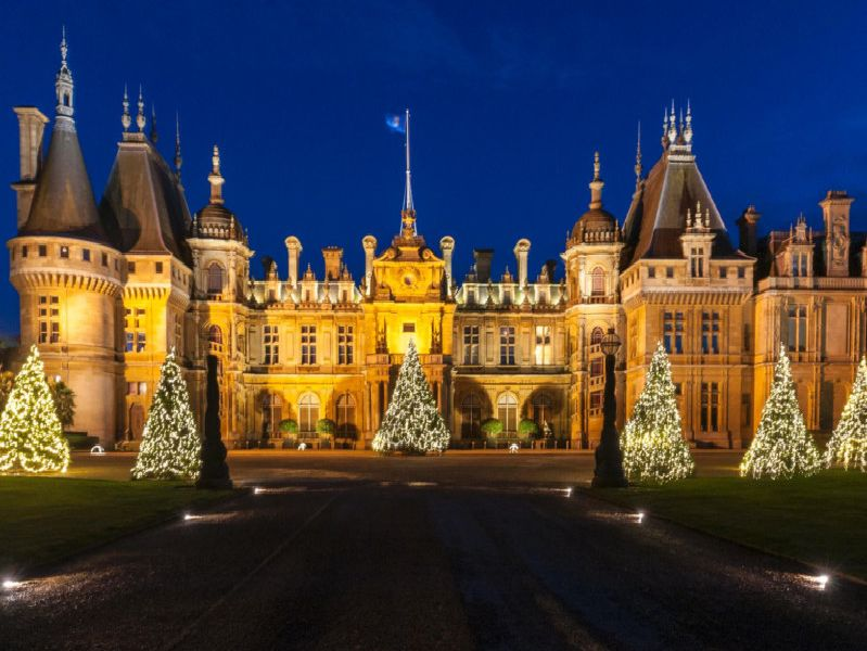 Waddesdon Manor at Christmas time