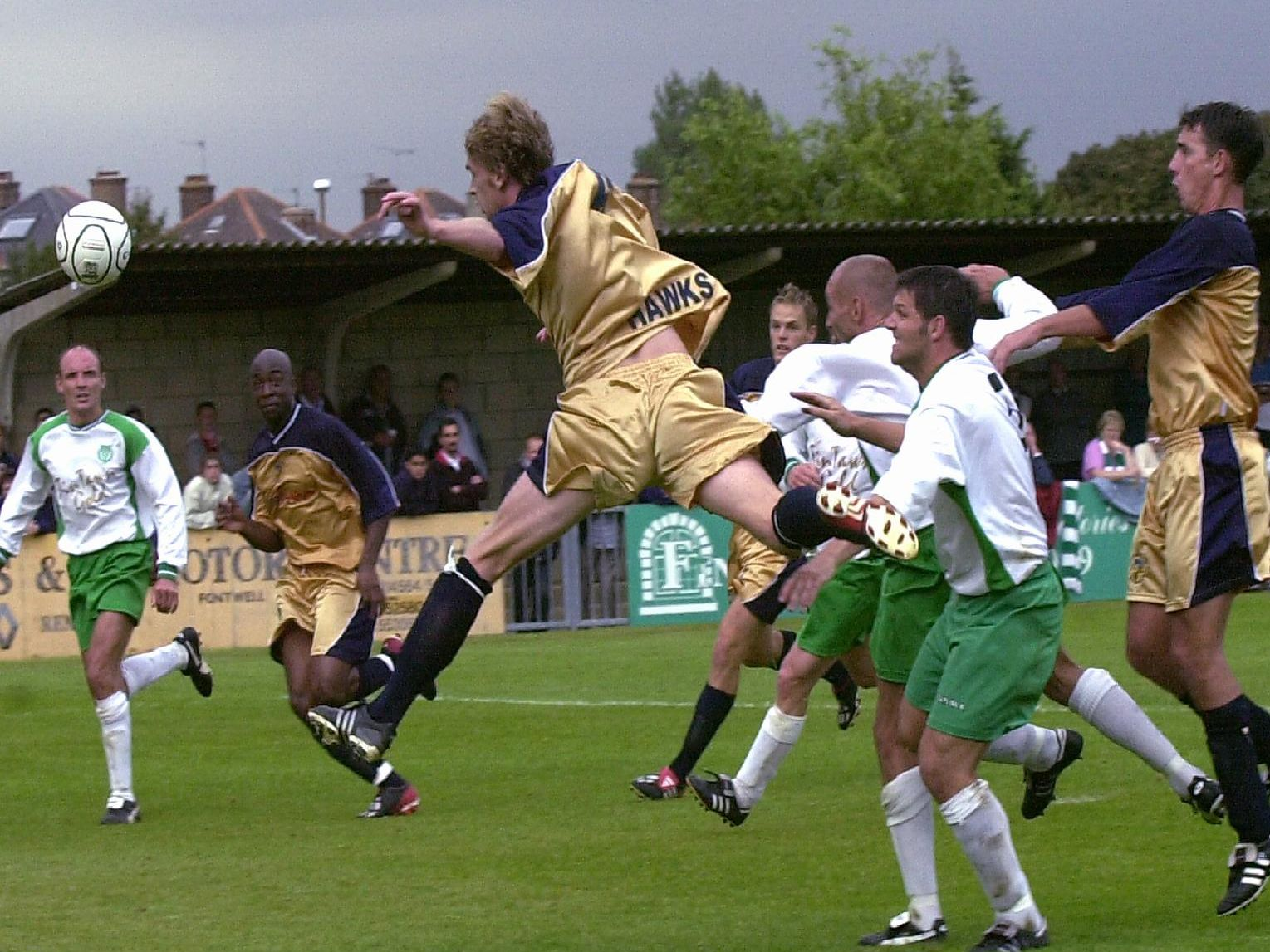 Can you name the season and who the Rocks were playing, or ID any of the players?