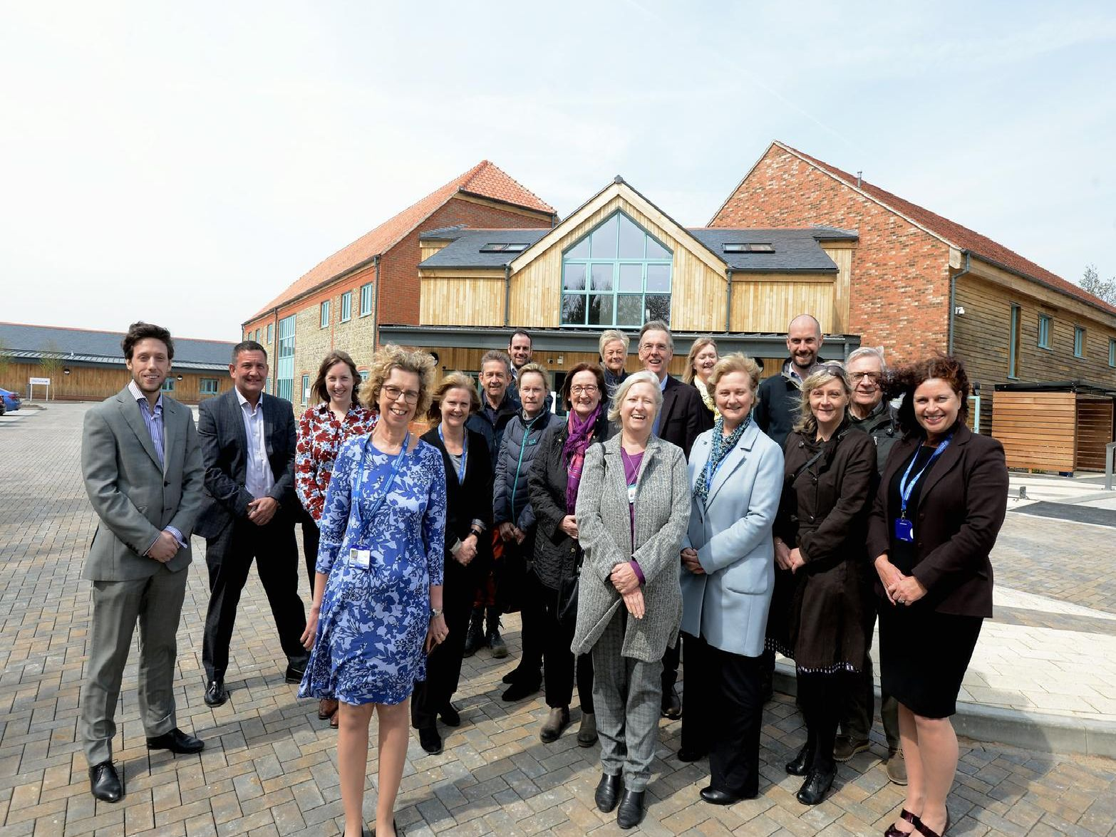 The Senior management, trustees and the transition project team ouside the new Hospice