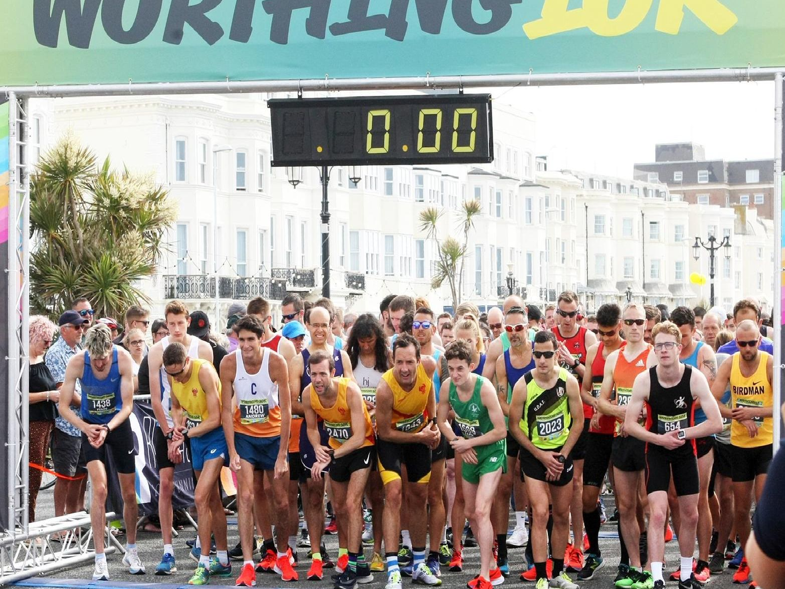 Runners set off in the Worthing 10k