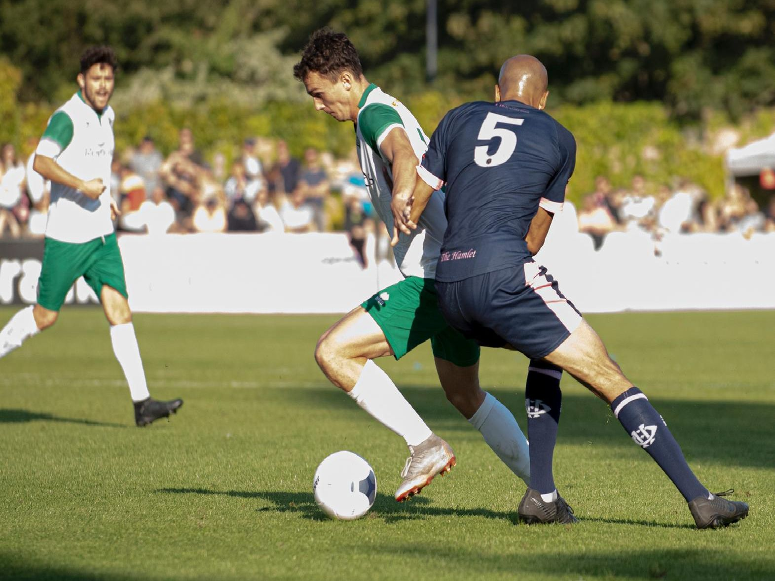 Action between Dulwich Hamlet and Bognor in the FA Cup / Picture by Tommy McMillan