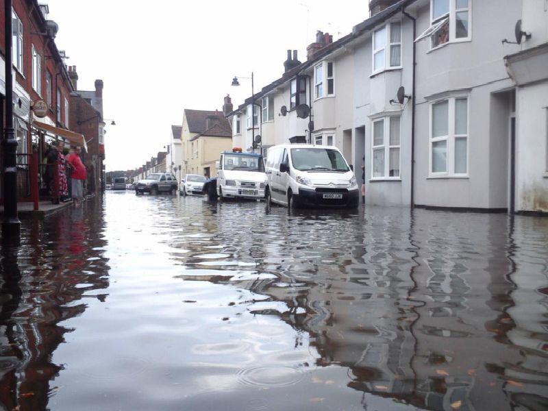 This is what West Sussex could look like if sea levels continue to rise