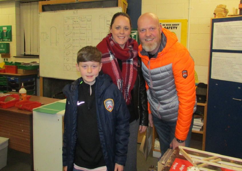 A family enjoying the open night at North Coast Integrated College.