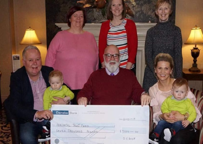 The Caring Caretaker's annual cheque presentation took place at the Lodge Hotel, Coleraine. Among the  recipients were the Perintatl Trust Fund RVH who received �7000.
