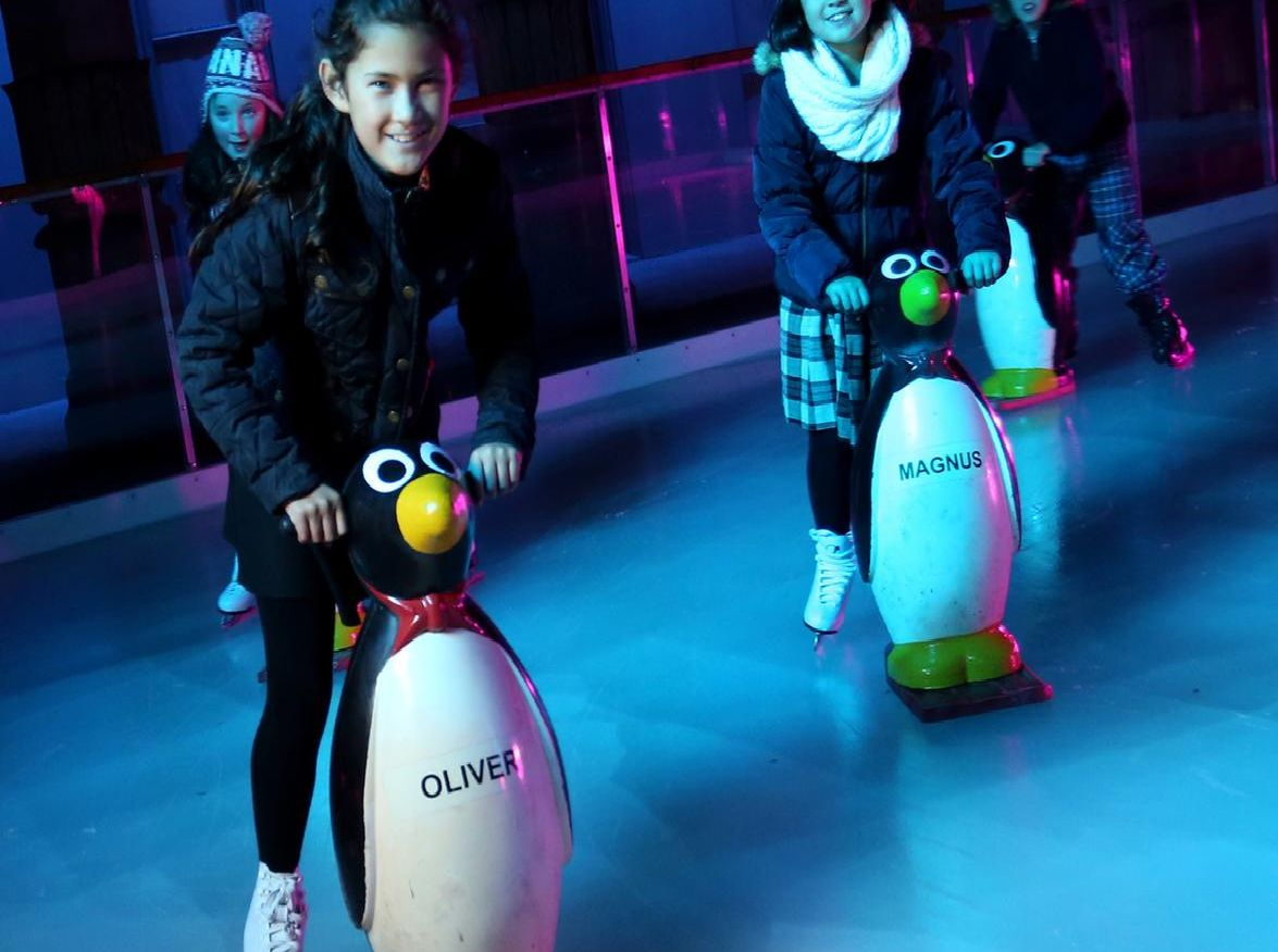 Brighton has an 880-square metre rink at the Royal Pavilion, as well as a smaller 130-square metre beginners rink with penguin skate aids for younger skaters to build their confidence. (Photo: Sam Stephenson)