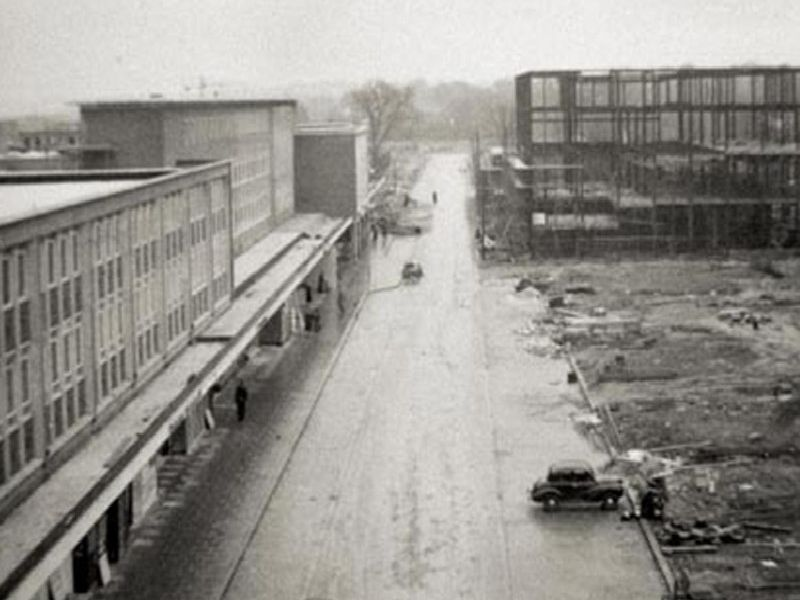 Construction work on Queens Square and the Queensway Store
