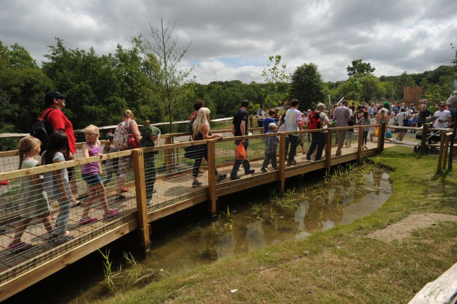 Dinosaur Island official opening in Southwater Country Park  11/7/15 (Pic by Jon Rigby) SUS-150713-095548008