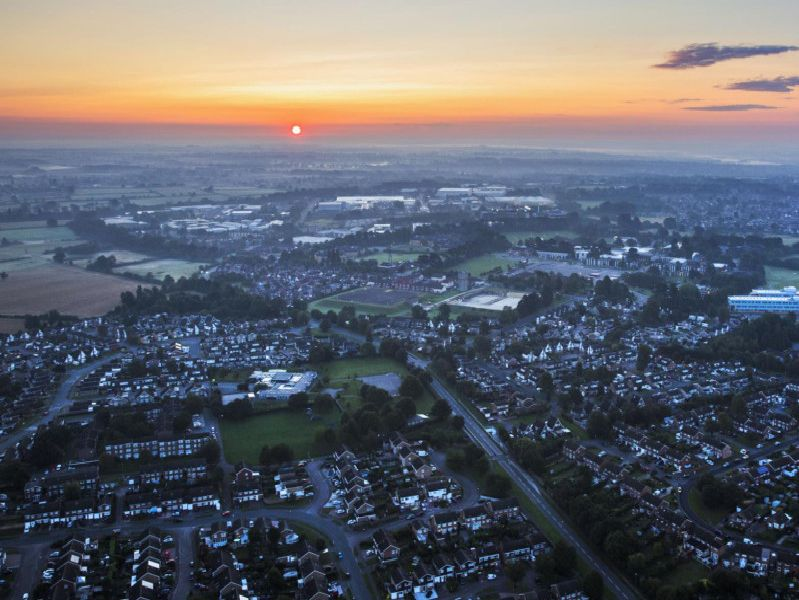 Northamptonshire from a hot air balloon