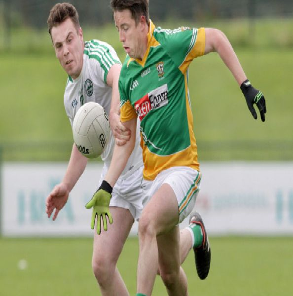 726fd183b Foreglen s Eunan McFeely takes on Eoghan Coll of Craigbane during  Saturday s Derry Intermediate Championship Quarter-