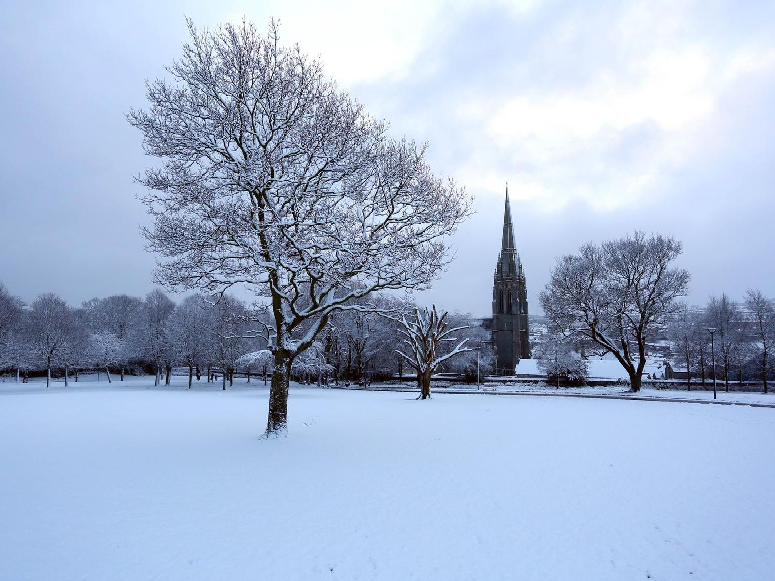 Brooke Park in the snow.