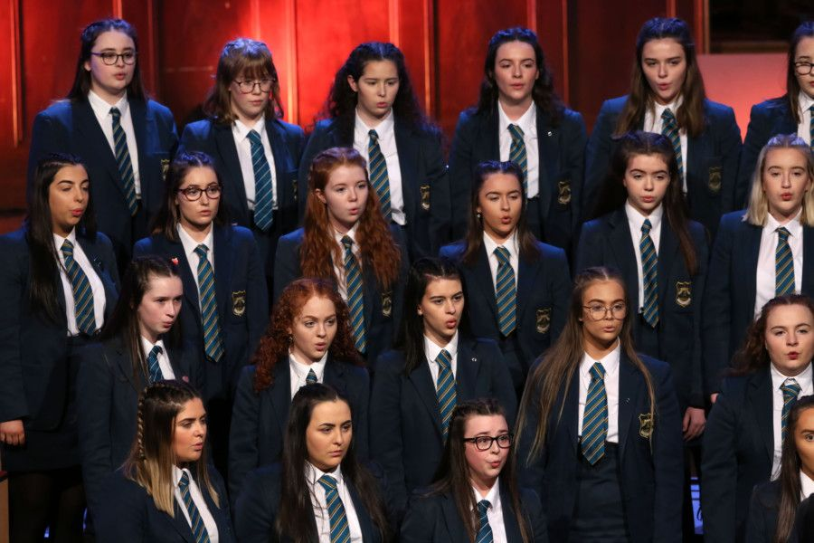Thornhill College performing during BBC Northern Ireland School Choir of the Year at the Ulster Hall, Belfast