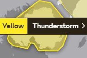 The Met Office issued the weather warning on Tuesday morning.
