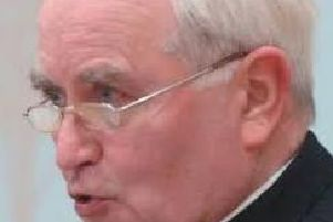 The late Bishop of Derry, Samus Hegarty.
