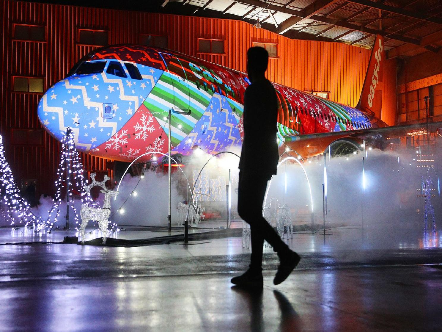 Christmas lights easyJet style at Luton Airport. Scroll through our gallery for some brilliant pictures