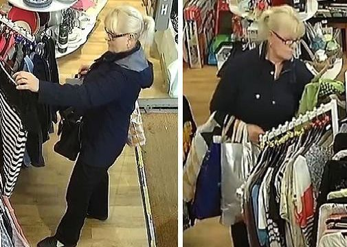 Police want to identify this woman in connection with a theft from the WRAS charity shop in Eastbourne town centre