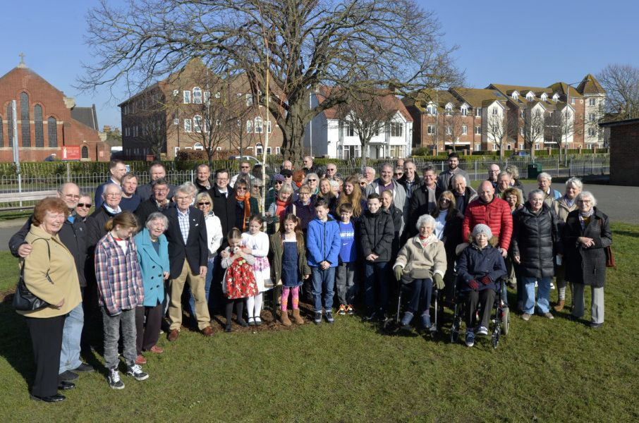 Dozens of people turned out to pay tribute to Beryl