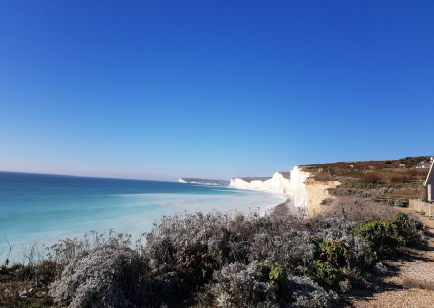 "A lovely sunny day on Sunday February 24 at Birling Gap, taken by Bob Newton on a Samsung S8. ""11 degrees. Mild!!"" he said. SUS-190228-093804001"