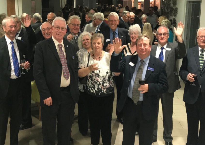 Sussex Freemasons fundraising and support evening at St Wilfrid's Hospice, Eastbourne. SUS-190329-123012001