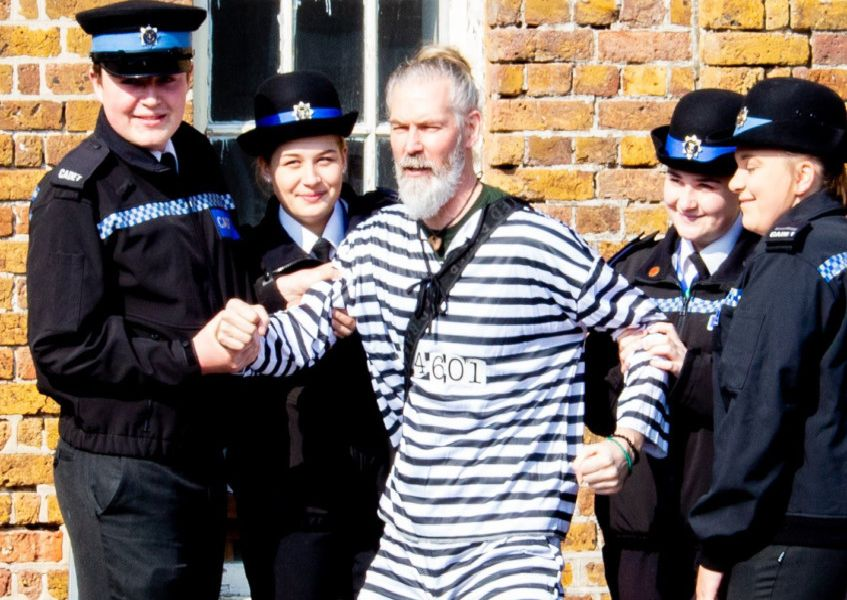 Harry Potter actor Jon Campling is arrested by cadets from Sussex Police