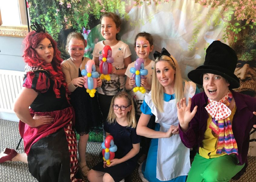 Mad Hatter's Tea Party at the Lansdowne Hotel, Eastbourne. SUS-190804-155743001