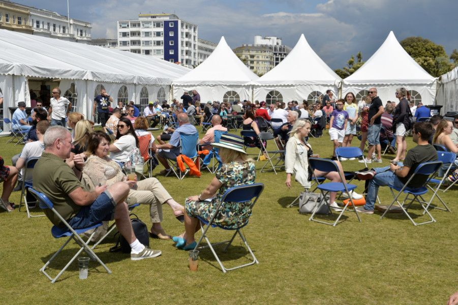 Beer and Cider by the Sea 2019 in Eastbourne. Photo by Jon Rigby SUS-190527-074419001