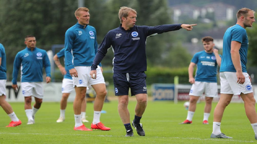 Graham Potter takes charge for the first time in Austria (BHAFC/Paul Hazlewood)