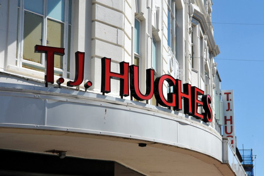 TJ Hughes in Terminus Road closed in May this year