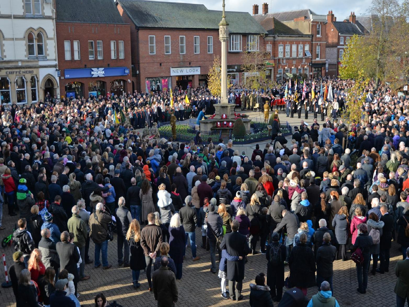 Hundreds gather on the Square to mark the 100th anniversary since the end of World War One. PICTURE: ANDREW CARPENTER